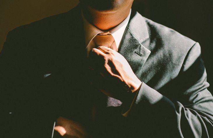 мужчина, галстук, костюм